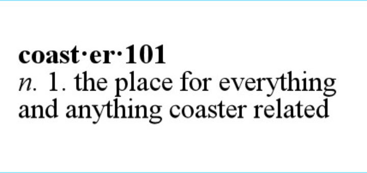Definition of Coaster101