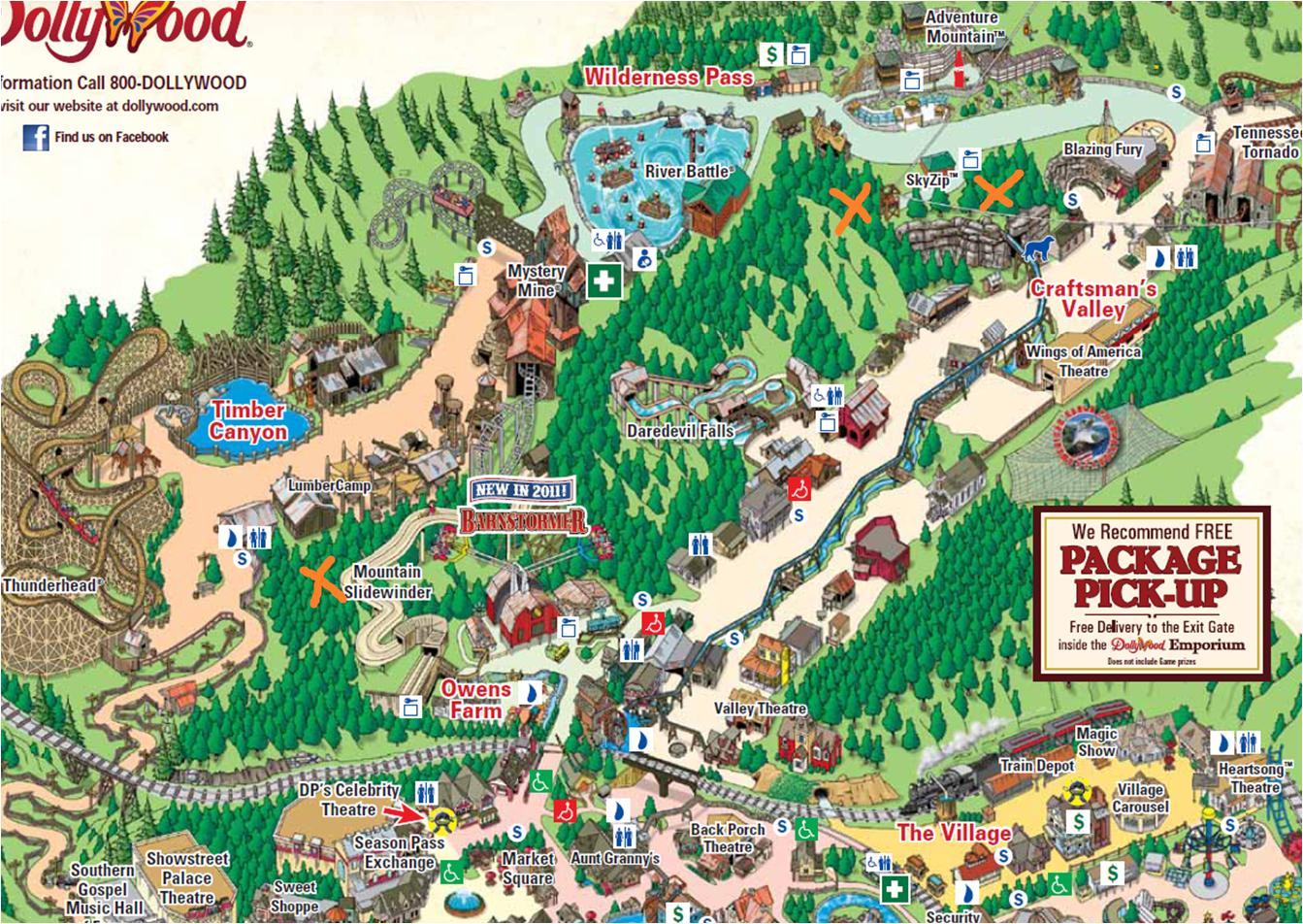 Popular 174 List Dollywood Map