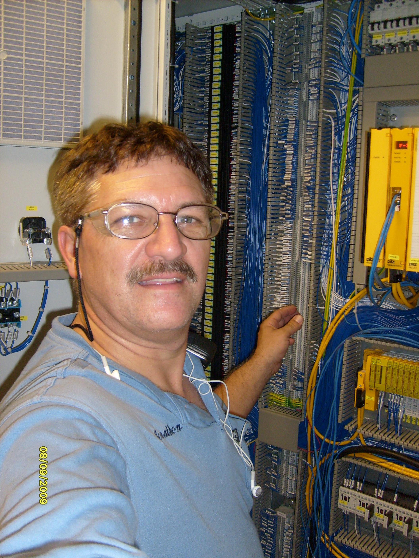 Jonathon working on the input output interfaces to a major coaster.