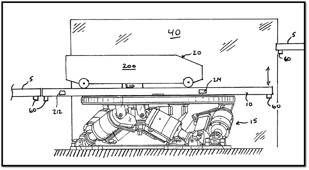 motion21 Universals Motion Base Track Patent