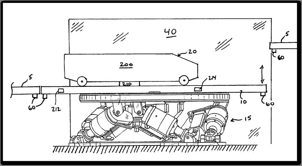 motion21 Universals Motion Base Track Patent