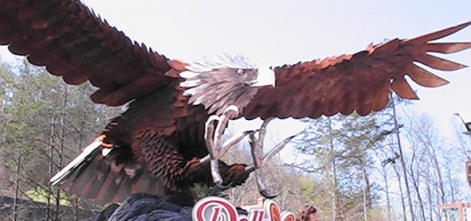 The eagle sculpture