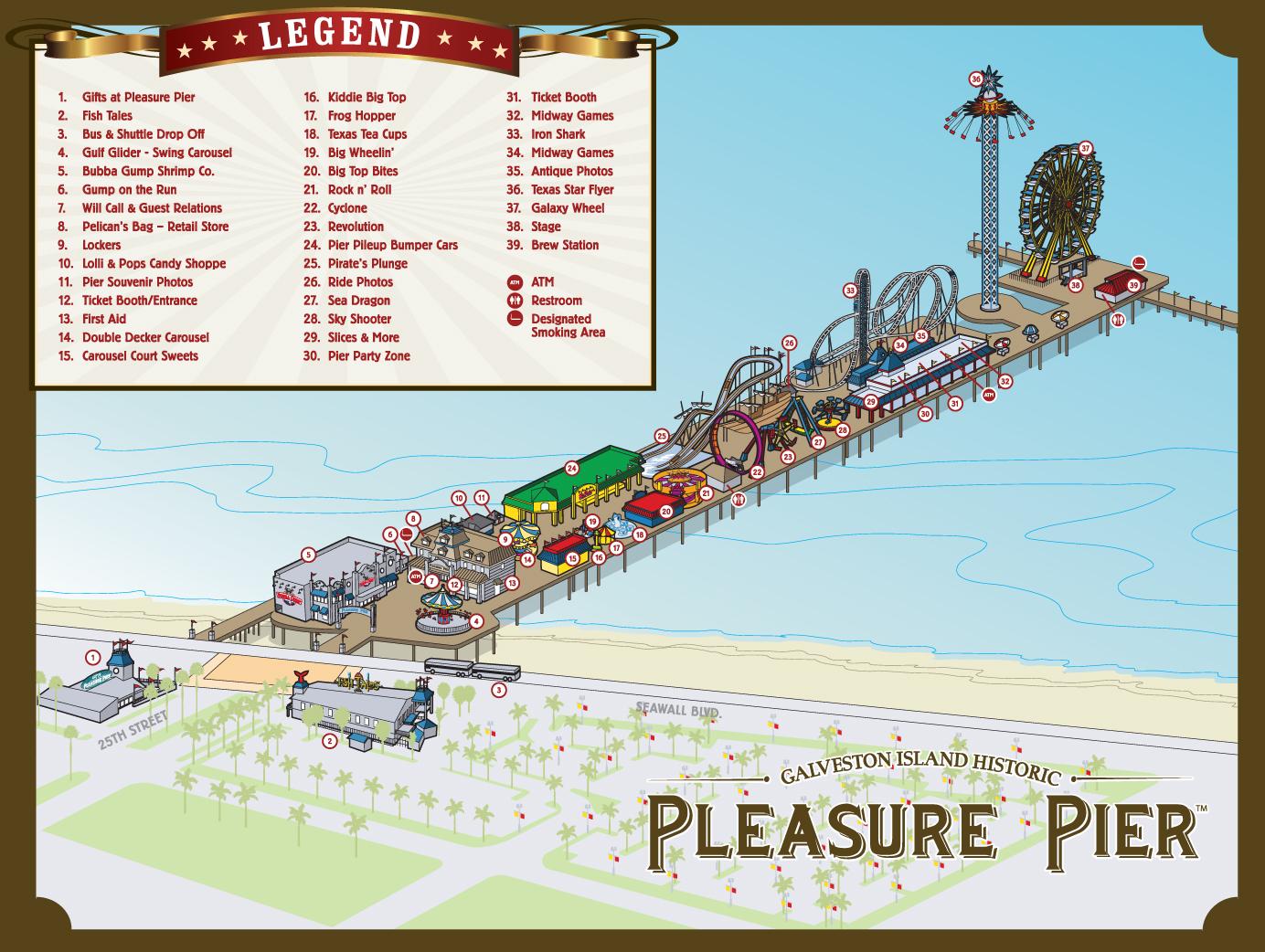 Galveston Island Historic Pleasure Pier Opens - Coaster101 on blank map of fredericksburg, blank map of dallas, blank map of atlanta, blank map of texas, blank map of charleston, blank map of cozumel, blank map of jacksonville, blank map of virginia beach, blank map of new orleans,