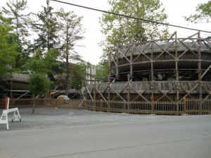 what is a wooden bobsled coaster