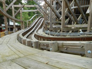 boblsed roller coaster at knoebels