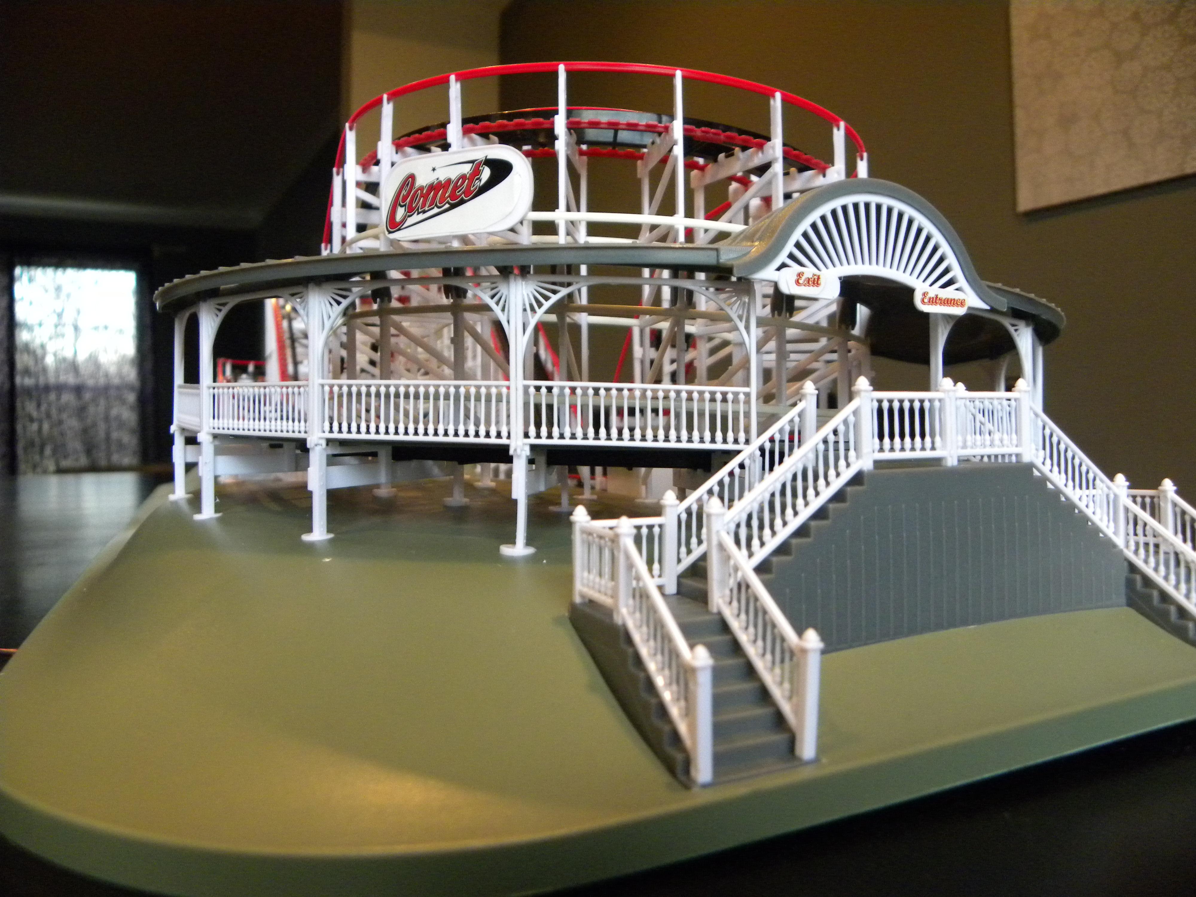 coasterdynamix comet wooden coaster model