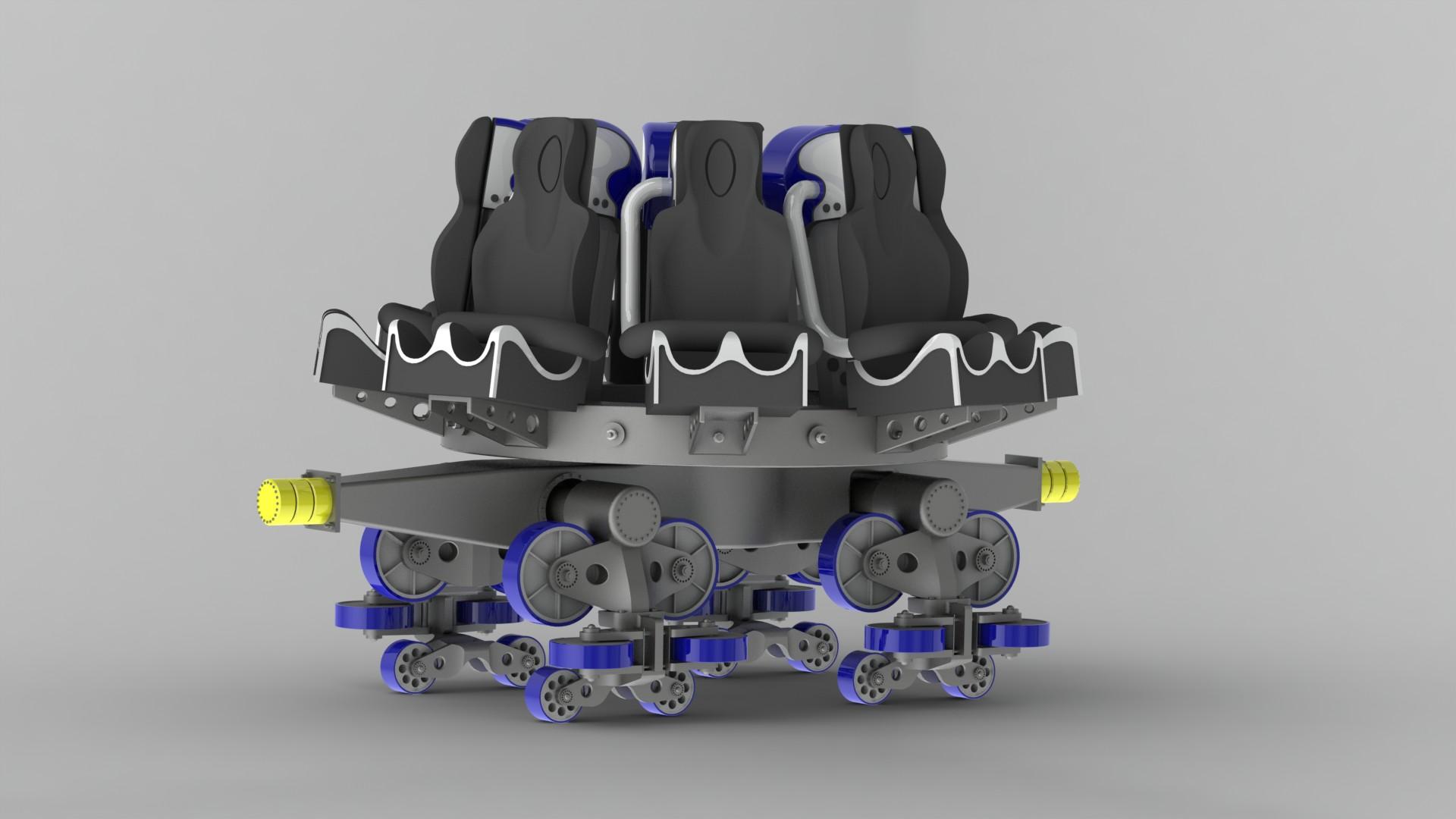 spinning coaster 3d model
