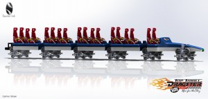 top thrill dragster cad model