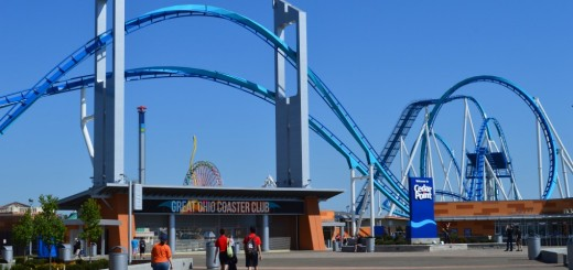 GateKeeper soars over the new entrance plaza.