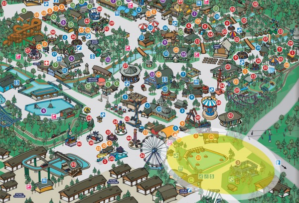 knoebels park map 600x408 Knoebels Announces Steel Coaster for 2015