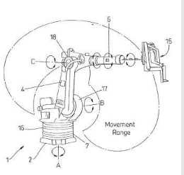 robotic arm ride patent
