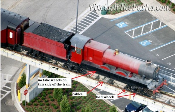 hogwarts express wheels only on one side 1