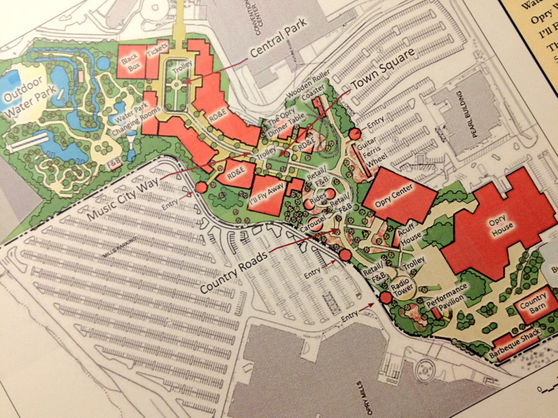 Opryland Usa Map.Citywalk Ish Proposal For Former Opryland Usa Site Coaster101