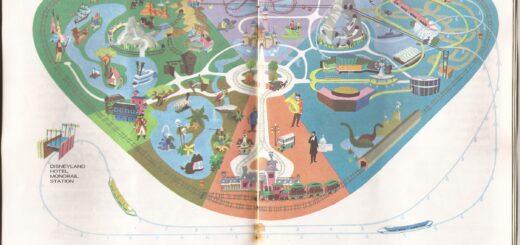 disneyland map 1968