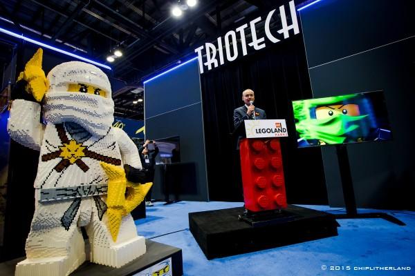 Triotech/Legoland announcement (courtesy of Triotech)