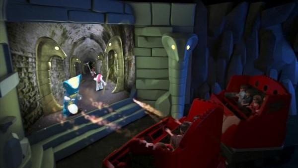 Blasting fireballs! (Courtesy of Legoland)