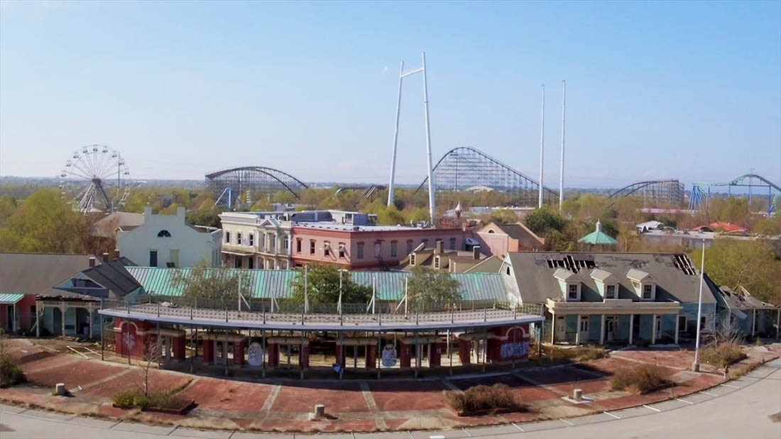 Aerial Video Of Abandoned Six Flags New Orleans Coaster101