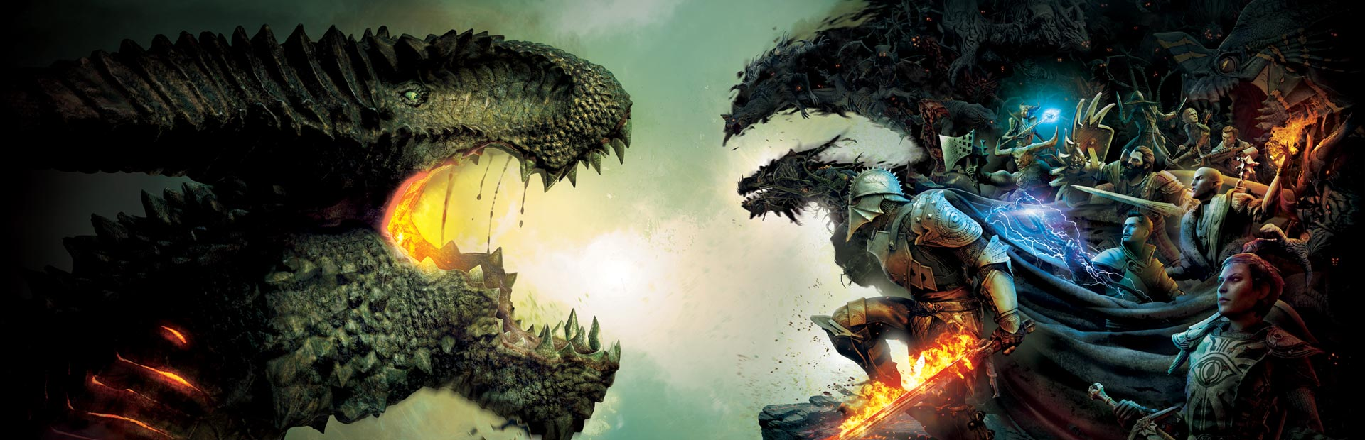 I want a Dragon Age ride. Maybe a VR coaster where I'm riding on the back of a dragon stabbing it. Or something. Photo courtesy BioWare and EA