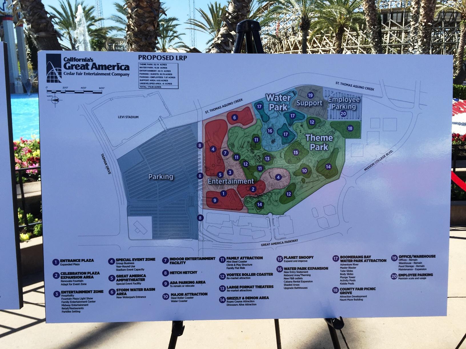 Possible expansion plans if Cedar Fair gets zoning approval from Santa Clara. Photo Courtesy 1590 KLIV-AM