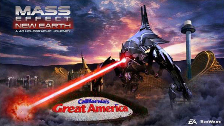 ...while Mass Effect: New Earth opens at California's Great America