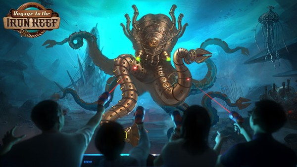 Shooting giant monsters on Voyage to the Iron Reef? Sounds like a video game to me.