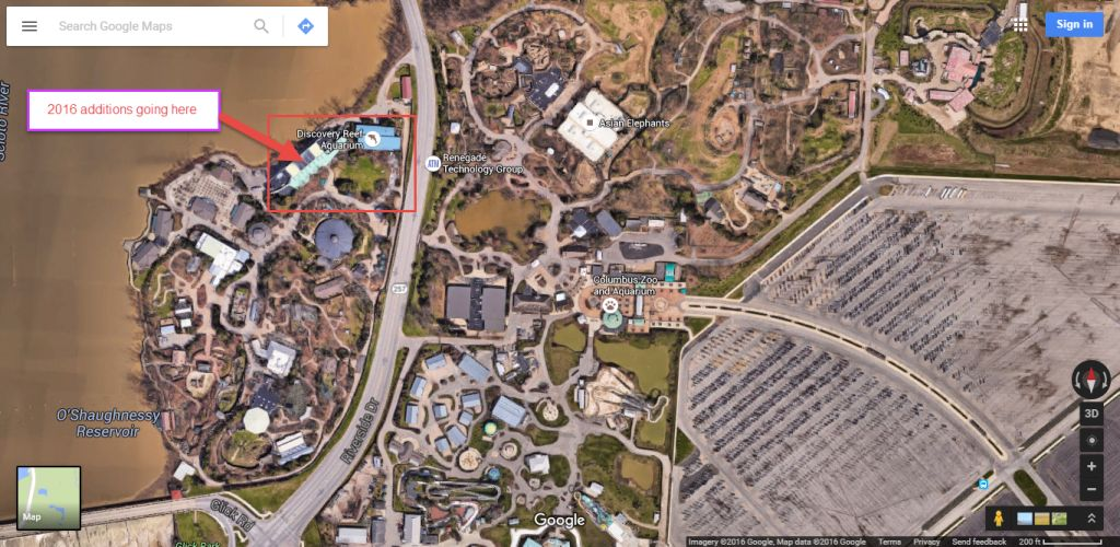 Columbus Zoo Adding D Theater And Interactive Park For - Columbus maps google