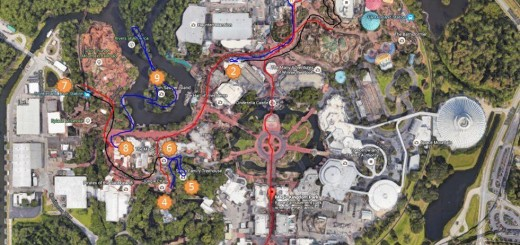 disney magic kingdom spaghetti map