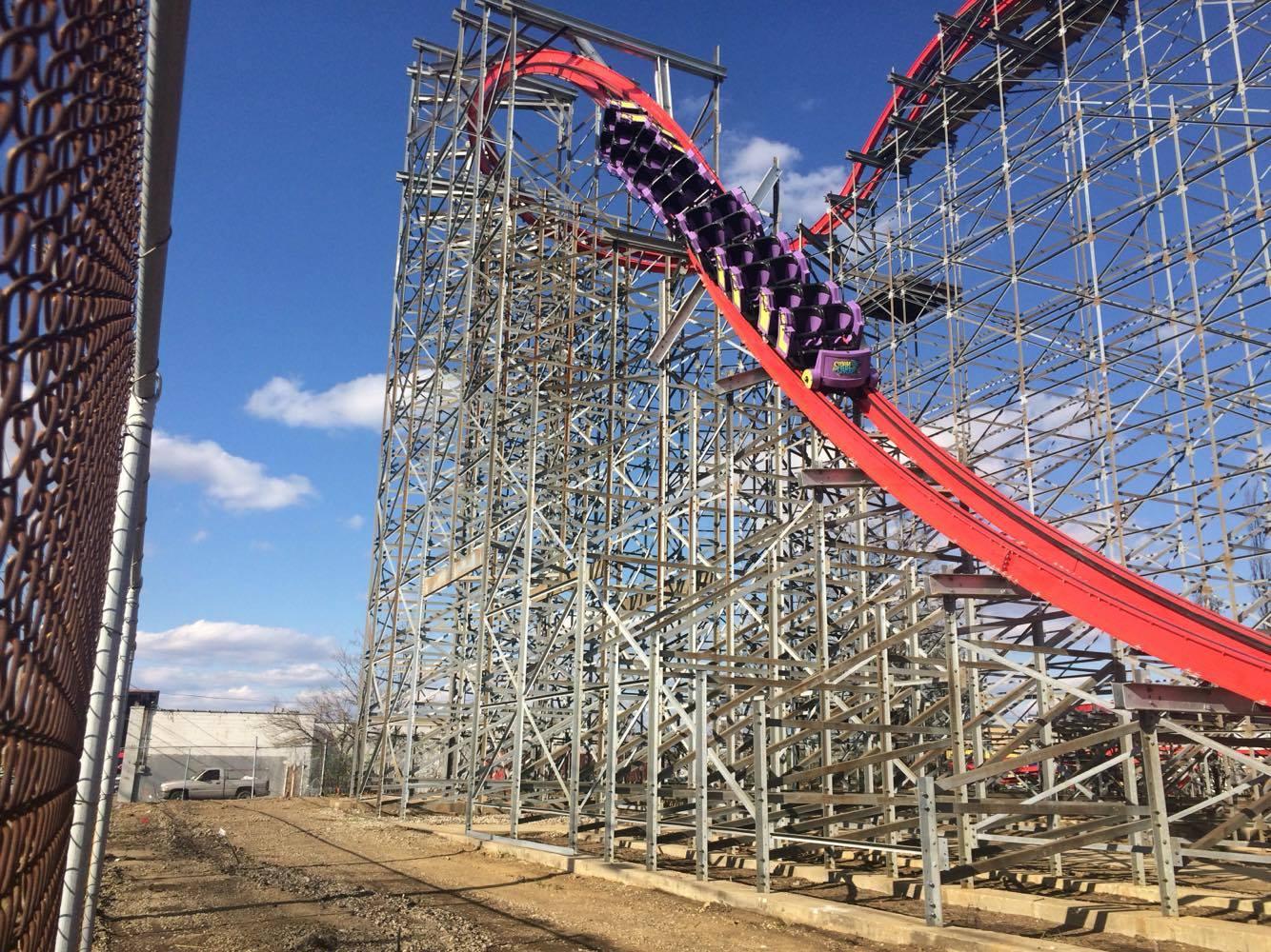 storm chaser testing at kentucky kingdom coaster101