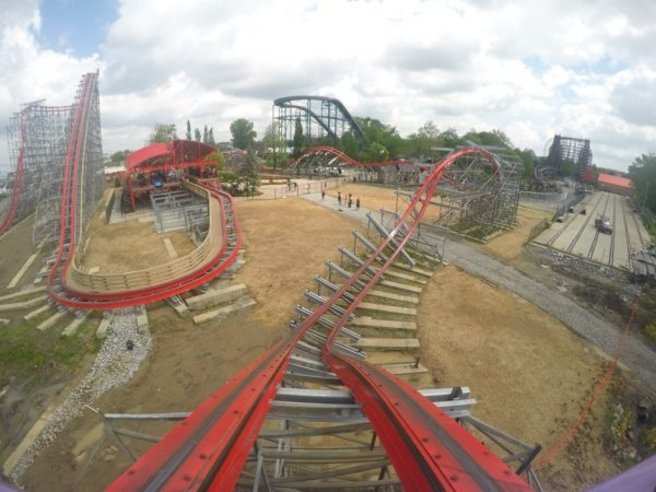 Corked Roll Inversion on Storm Chaser at Kentucky Kingdom