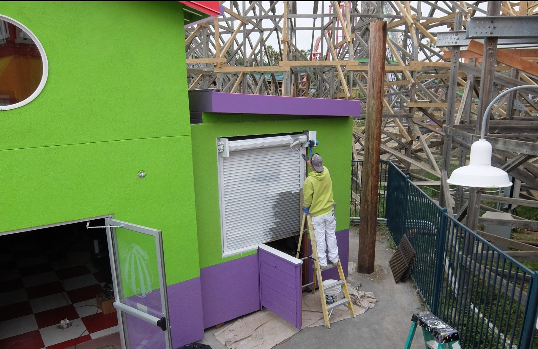 The exit gift shop is still having some finishing touches placed on it.