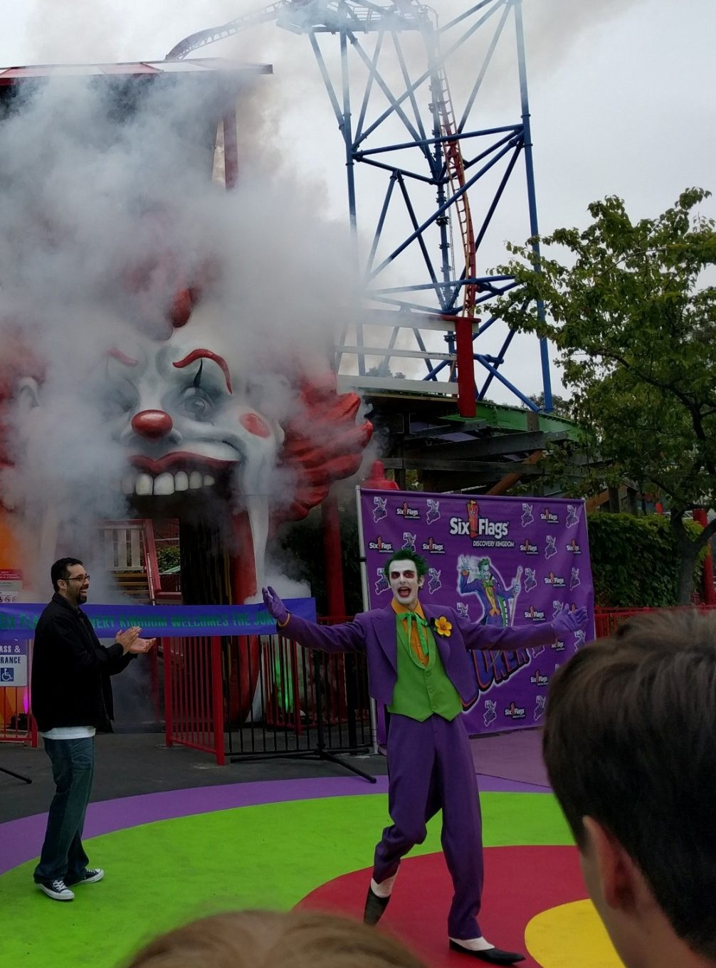 Of course, the Joker had to be on hand to open the Joker the actor Discovery Kingdom found to play him has actually done a really good job both times he has appeared)