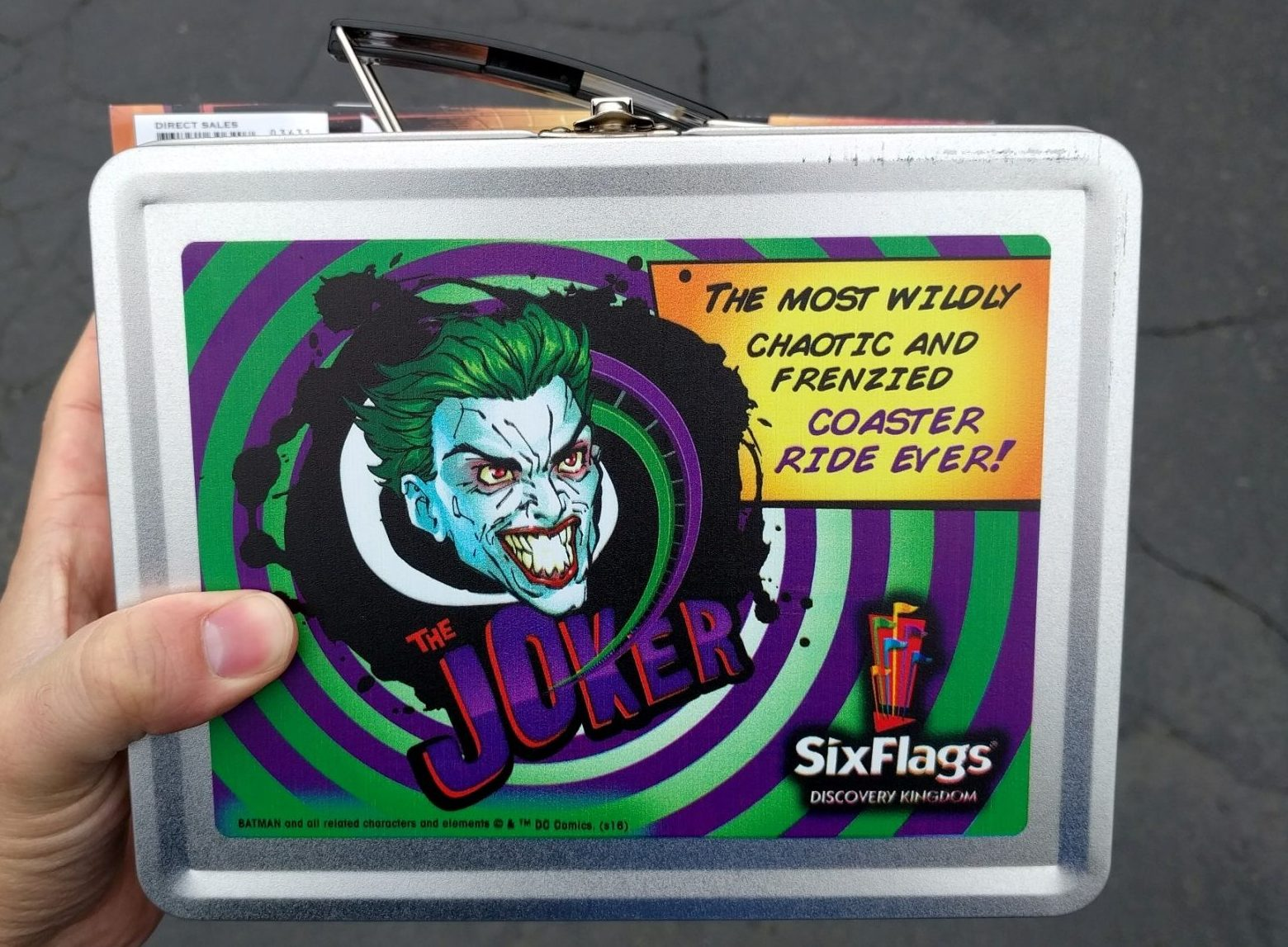 Maybe not perfect, but The Joker is an excellent new Coaster. Plus I got this sweet lunch box.