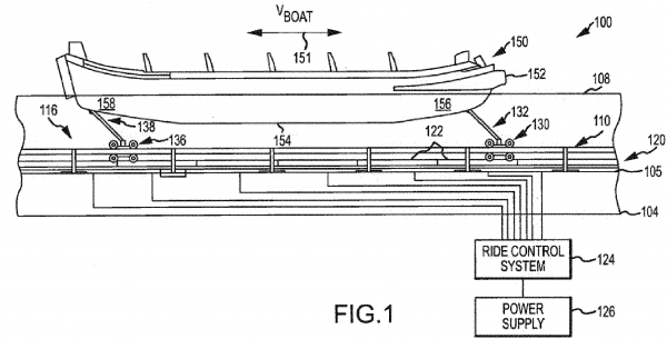 disney pirate ride boat patent