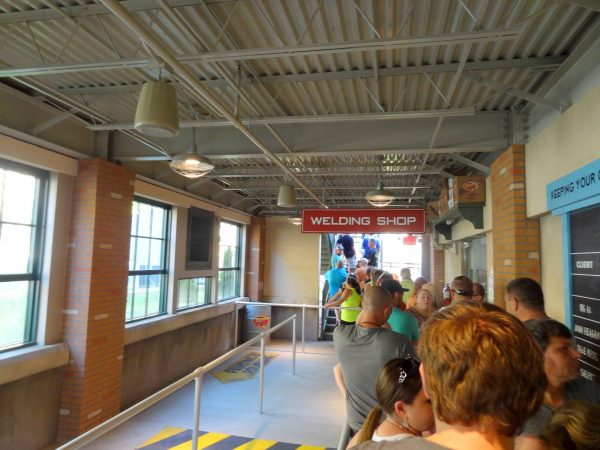 Lightning Rod roller coaster at Dollywood queue line