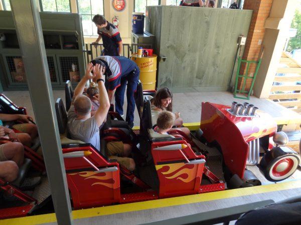 Lightning Rod roller coaster front car at Dollywood