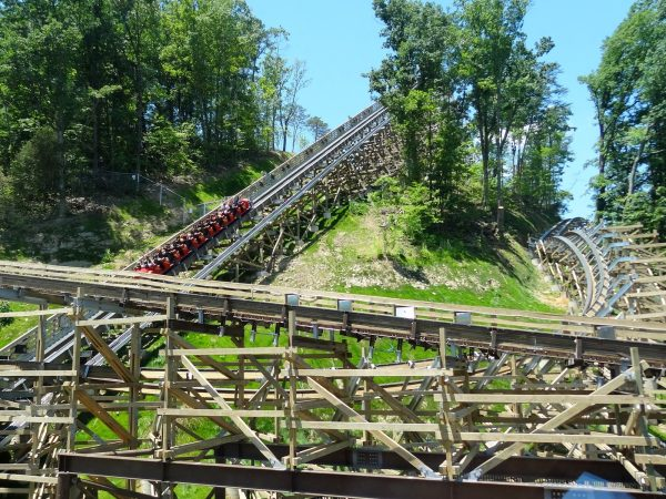 Lightning Rod roller coaster launch at Dollywood