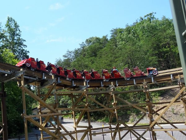 Lightning Rod roller coaster trains