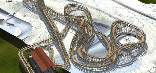 alton towers 2018 wooden coaster layout
