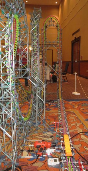 knex roller coaster that launches screamin serpent
