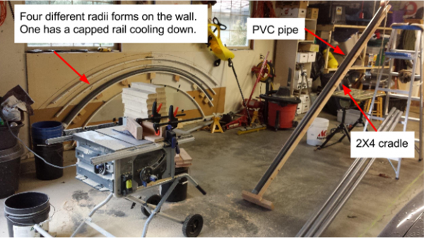 how to bend pvc pipe for roller coaster rails
