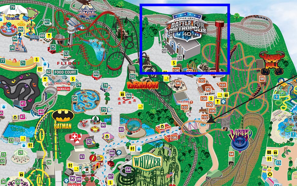 Review Justice League at Six Flags Great America Coaster101