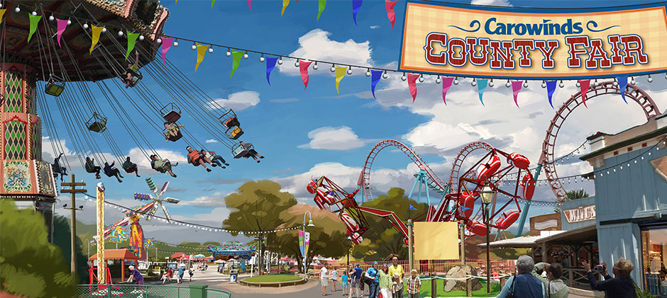 Flat rides, water parks, and park improvements dominated Cedar Fair's announcements.