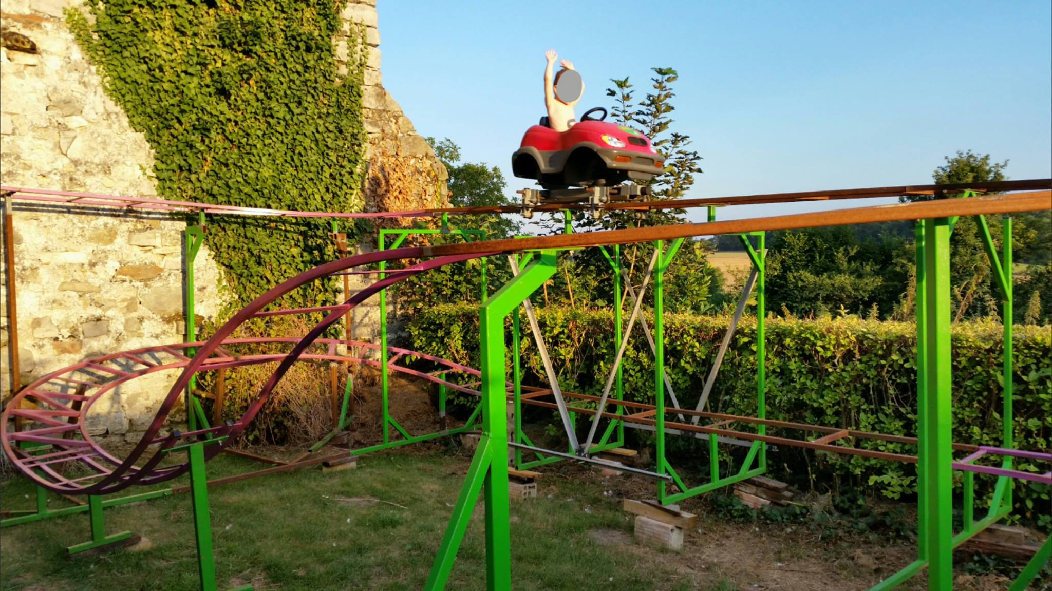 a fully automated home built steel wild mouse coaster coaster101