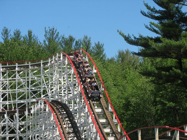 On older coasters like Yankee Cannonball, GCII strives to keep them as historic feeling as possible.