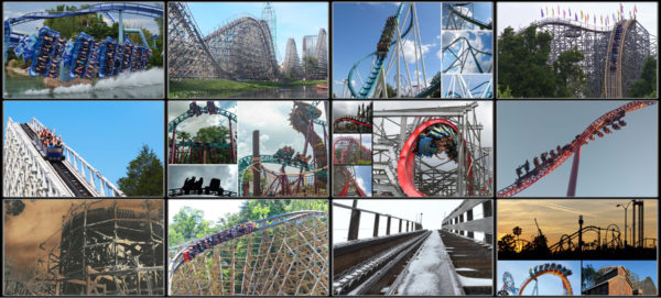 Our 2017 roller coaster calendar features coasters from coast to coast!