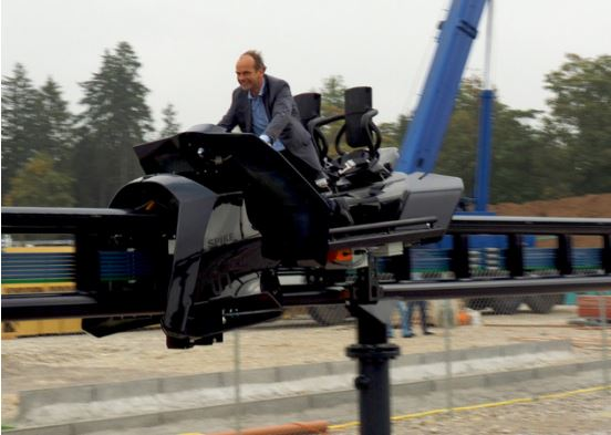 Spike Inventor and Maurer Rides CEO Jörg Beutler going for a test ride.