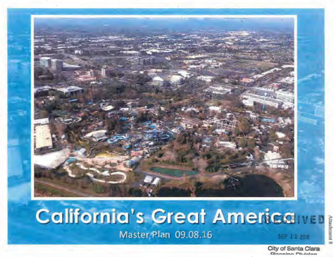 September presentation from California's Great America to the Santa Clara Planning Commission