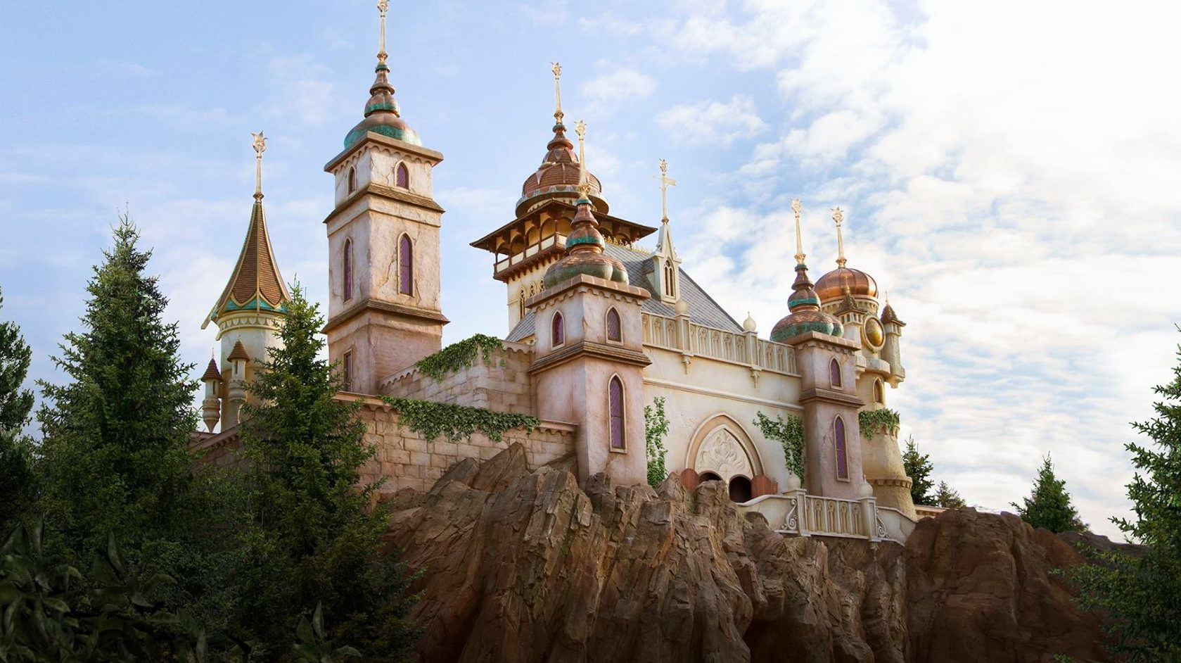 Exterior of Symbolica: Palace of Fantasy at Efteling