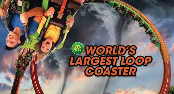 Six Flags Great America 2018 world's largest loop coaster