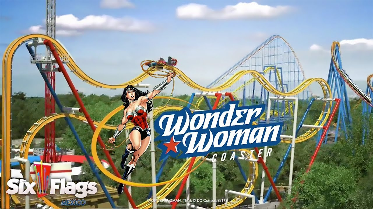 Six Flags Mexico Opening Wonder Woman 4D Coaster In 2018
